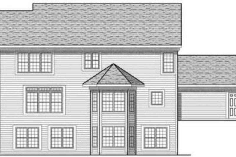 Traditional Exterior - Rear Elevation Plan #70-628 - Houseplans.com