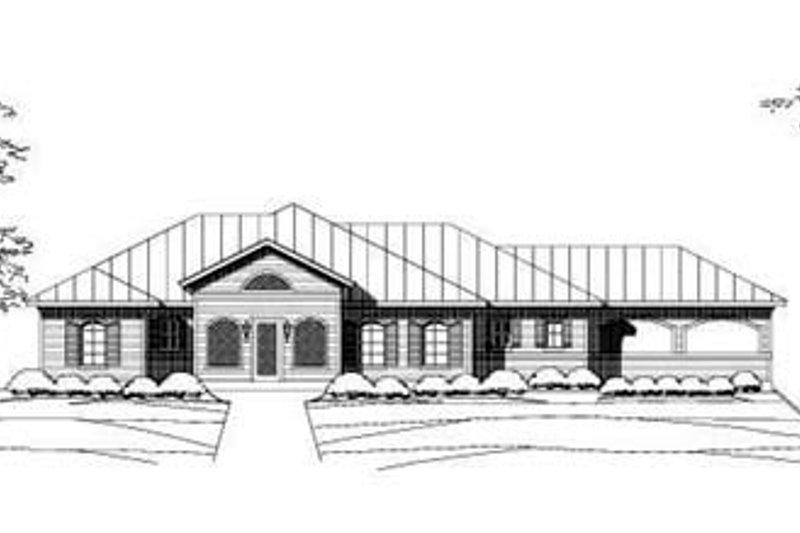 Country Style House Plan - 3 Beds 2.5 Baths 1922 Sq/Ft Plan #411-124 Exterior - Front Elevation