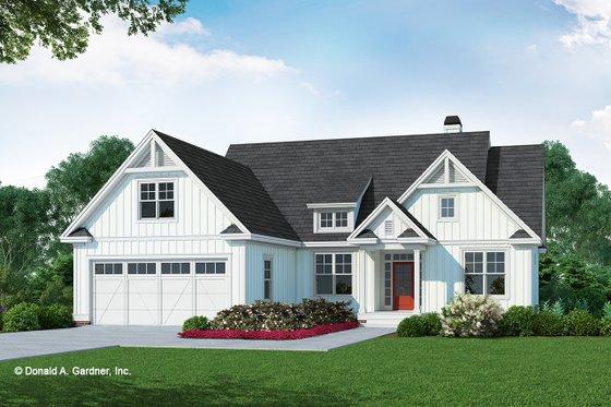 Farmhouse Exterior - Front Elevation Plan #929-1106