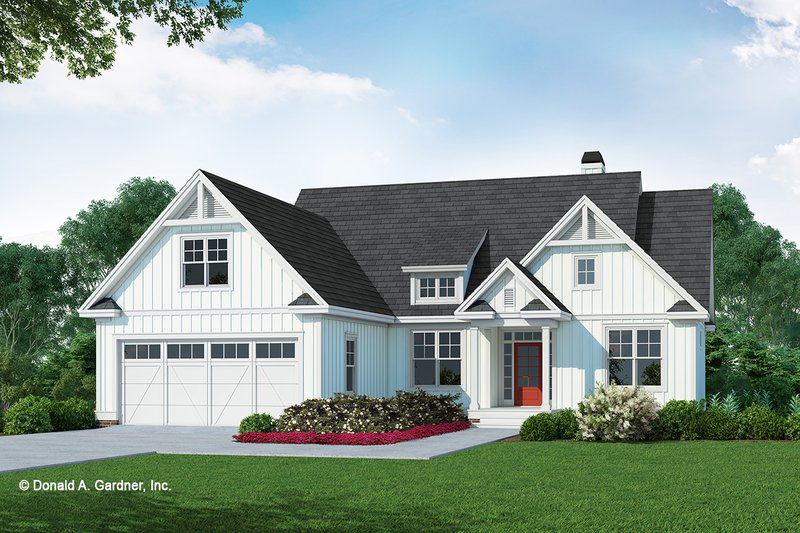 Farmhouse Style House Plan - 3 Beds 2 Baths 1570 Sq/Ft Plan #929-1106 Exterior - Front Elevation