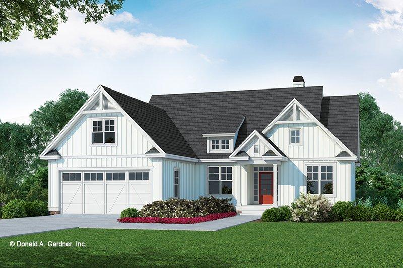 Farmhouse Style House Plan - 3 Beds 2 Baths 1570 Sq/Ft Plan #929-1106