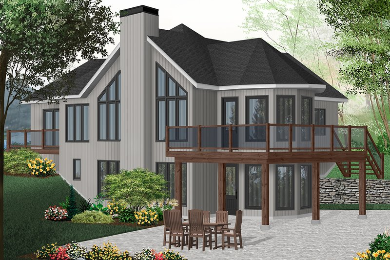 House Plan Design - Contemporary Exterior - Front Elevation Plan #23-873