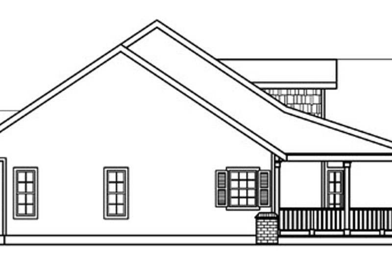 Ranch Exterior - Other Elevation Plan #124-391 - Houseplans.com