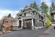 Craftsman Style House Plan - 4 Beds 3.5 Baths 3504 Sq/Ft Plan #48-1007 Exterior - Front Elevation