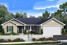 Dream House Plan - Ranch Exterior - Front Elevation Plan #21-342