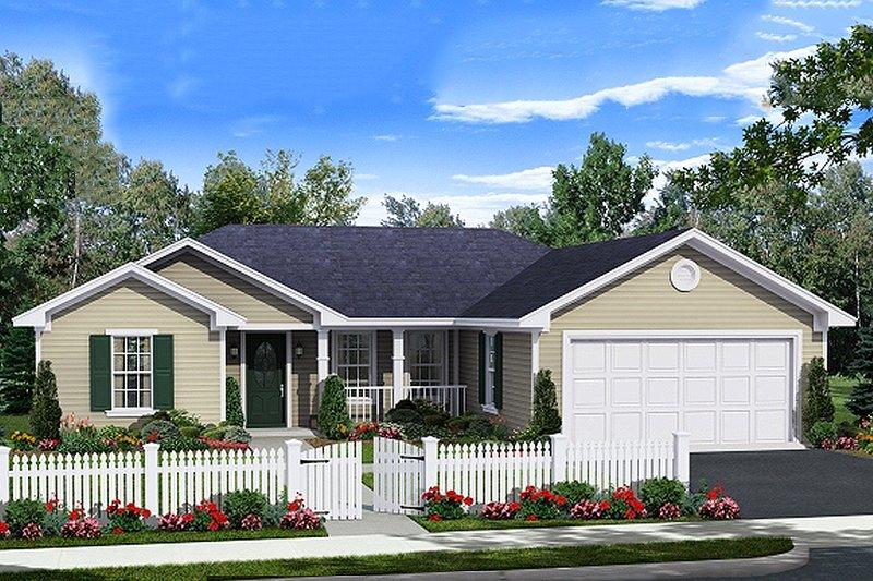 House Plan Design - Ranch Exterior - Front Elevation Plan #21-342