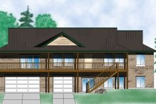 Home Plan - Country Exterior - Front Elevation Plan #5-145