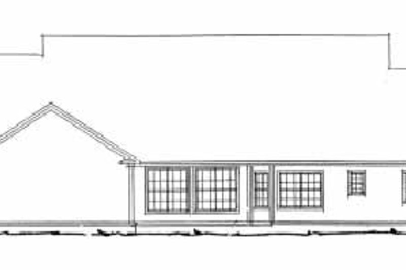 Country Exterior - Rear Elevation Plan #20-354 - Houseplans.com