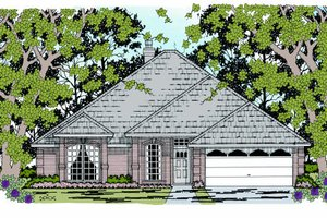 Traditional Exterior - Front Elevation Plan #42-112