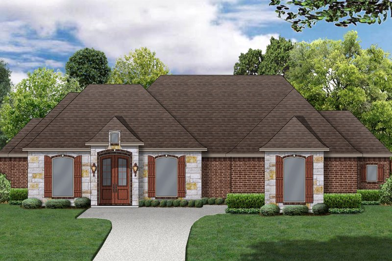 Traditional Style House Plan - 3 Beds 3.5 Baths 2486 Sq/Ft Plan #84-623 Exterior - Front Elevation