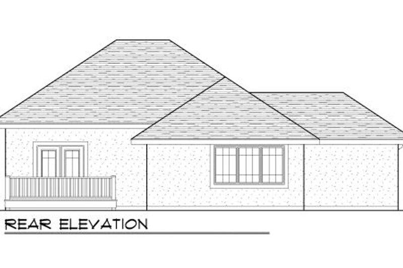 European Exterior - Rear Elevation Plan #70-981 - Houseplans.com