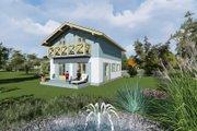European Style House Plan - 3 Beds 1 Baths 1815 Sq/Ft Plan #549-9 Exterior - Rear Elevation