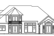 Dream House Plan - European Exterior - Rear Elevation Plan #124-722