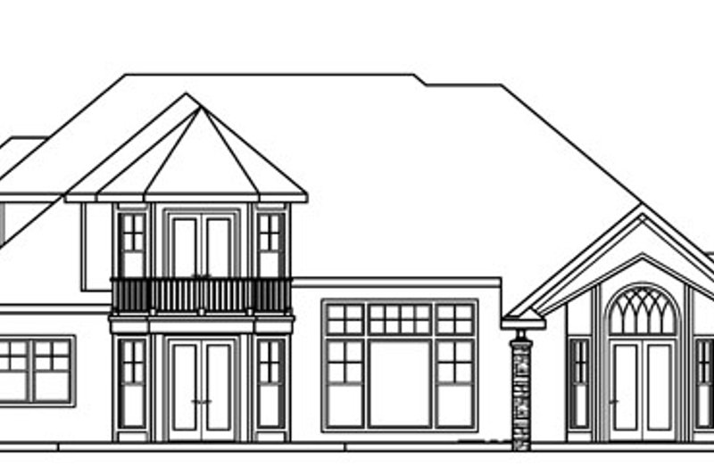 European Exterior - Rear Elevation Plan #124-722 - Houseplans.com