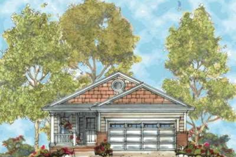 Home Plan - Traditional Exterior - Front Elevation Plan #20-1655