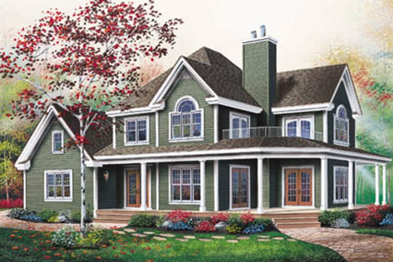 Architectural House Design - Country Exterior - Front Elevation Plan #23-2060