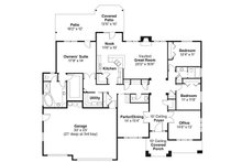 Craftsman Floor Plan - Main Floor Plan Plan #124-773