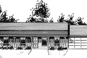 Country Exterior - Front Elevation Plan #14-146