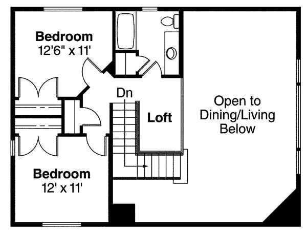 Traditional Floor Plan - Upper Floor Plan Plan #124-717