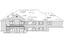 Home Plan - Traditional Exterior - Rear Elevation Plan #5-287
