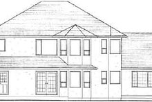 Home Plan - Mediterranean Exterior - Rear Elevation Plan #126-136