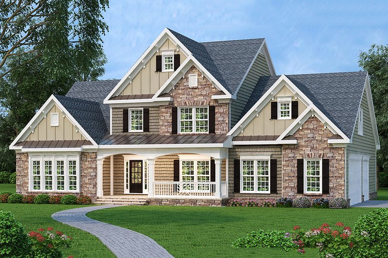 Traditional Exterior - Front Elevation Plan #419-138 - Houseplans.com