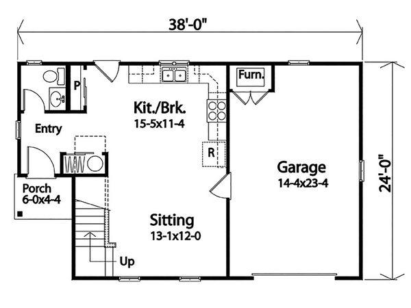 Country Floor Plan - Main Floor Plan #22-603