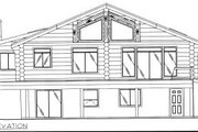 Log Style House Plan - 2 Beds 3 Baths 2875 Sq/Ft Plan #117-405 Exterior - Rear Elevation