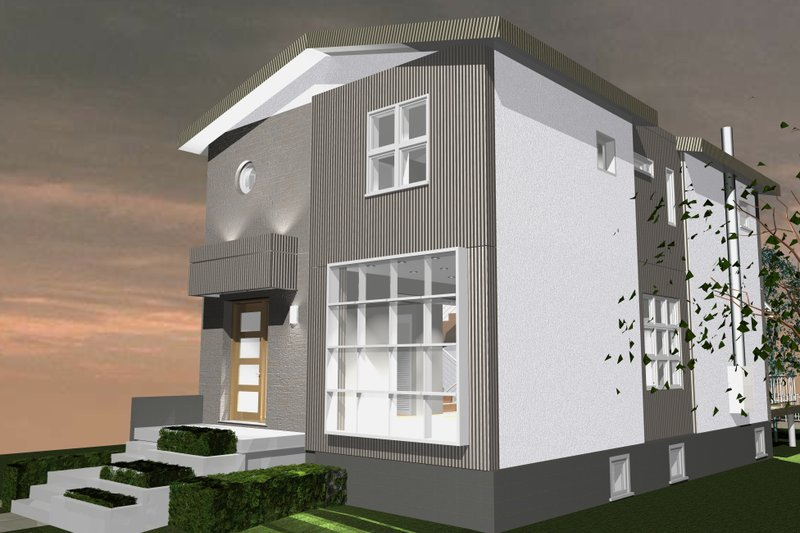 Dream House Plan - Contemporary Exterior - Front Elevation Plan #535-26