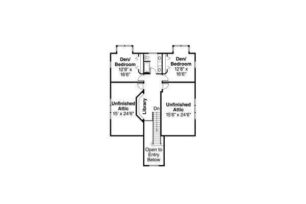 Traditional Floor Plan - Upper Floor Plan Plan #124-346