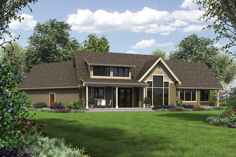 Craftsman Exterior - Rear Elevation Plan #48-655 - Houseplans.com