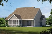 Craftsman Style House Plan - 3 Beds 2.5 Baths 1995 Sq/Ft Plan #20-2420 Exterior - Rear Elevation