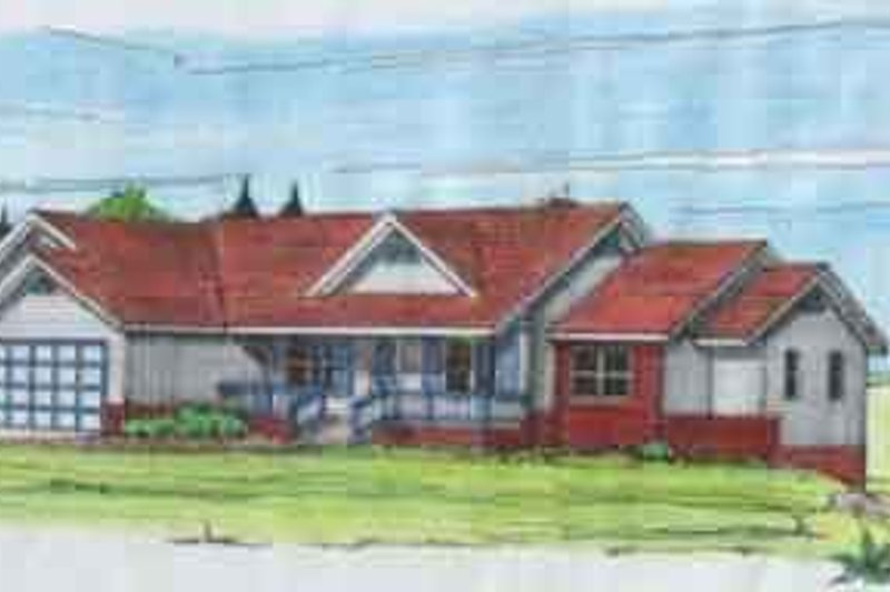 Traditional Exterior - Front Elevation Plan #117-138 - Houseplans.com