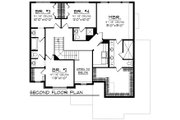 Craftsman Style House Plan - 4 Beds 2.5 Baths 2611 Sq/Ft Plan #70-1278 Floor Plan - Upper Floor Plan