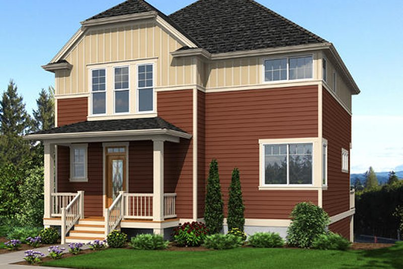 Traditional Exterior - Front Elevation Plan #48-503