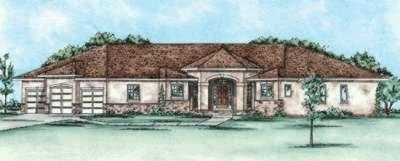 Dream House Plan - Mediterranean Exterior - Front Elevation Plan #20-1757