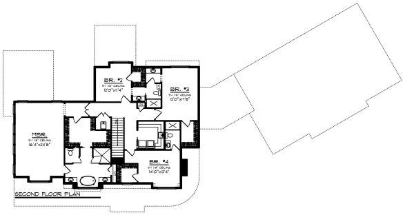 Country Floor Plan - Upper Floor Plan #70-1488