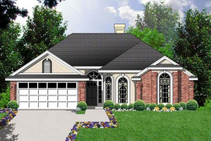 Traditional Exterior - Front Elevation Plan #40-403 - Houseplans.com