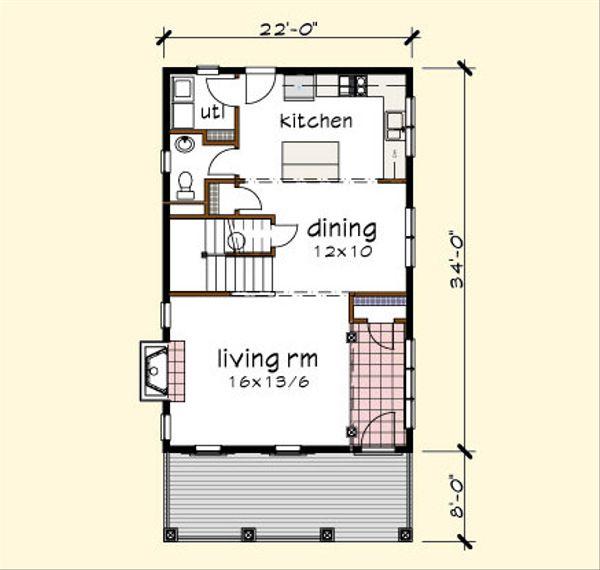 Traditional Floor Plan - Main Floor Plan Plan #79-272