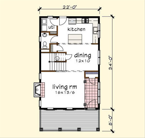 Traditional Floor Plan - Main Floor Plan #79-272