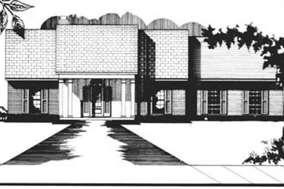Colonial Exterior - Front Elevation Plan #15-117