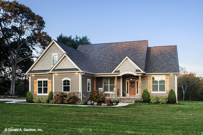 Craftsman Style House Plan - 3 Beds 2 Baths 1473 Sq/Ft Plan ... on old craftsman bungalow house plans, large craftsman lake house plans, large craftsman floor plans,