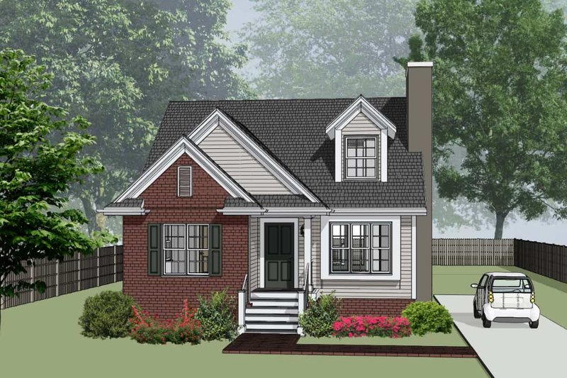 Dream House Plan - Cottage Exterior - Front Elevation Plan #79-156