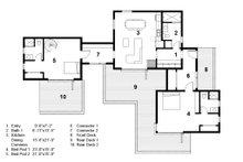Modern Floor Plan - Main Floor Plan Plan #497-56