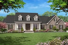 Colonial Exterior - Front Elevation Plan #430-35