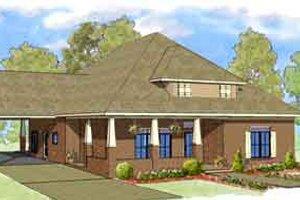 Craftsman Exterior - Front Elevation Plan #8-107