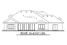 European Exterior - Rear Elevation Plan #20-2067
