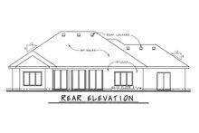 Home Plan - European Exterior - Rear Elevation Plan #20-2067