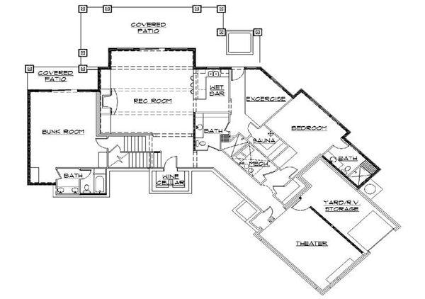 Traditional Floor Plan - Lower Floor Plan Plan #5-272