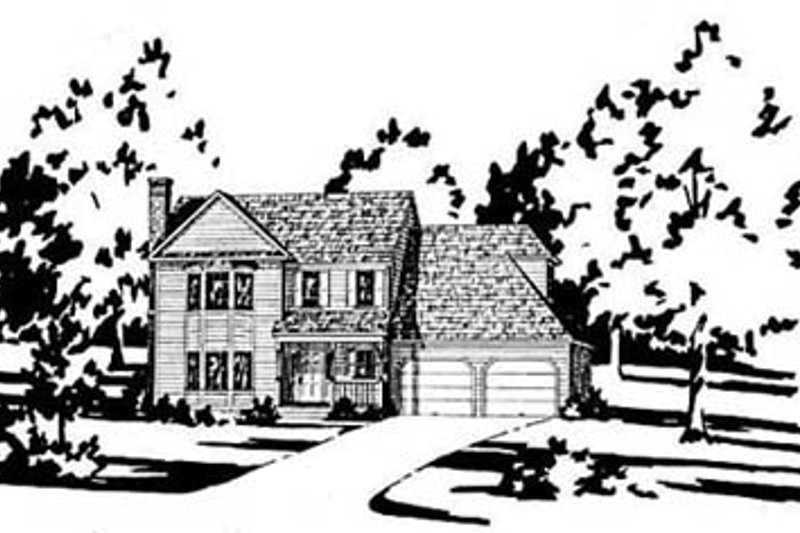 Traditional Exterior - Front Elevation Plan #36-148